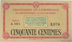 50 Centimes FRANCE régionalisme et divers PUY-DE-DÔME 1920 JP.103.12 SPL à NEUF