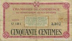 50 Centimes FRANCE régionalisme et divers PUY-DE-DÔME 1920 JP.103.12 TB