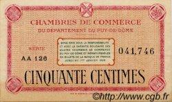 50 Centimes FRANCE régionalisme et divers Puy-De-Dôme 1920 JP.103.15 TTB à SUP
