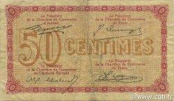 50 Centimes FRANCE régionalisme et divers PUY-DE-DÔME 1920 JP.103.15 TB