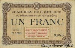 1 Franc FRANCE régionalisme et divers PUY-DE-DÔME 1920 JP.103.16