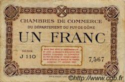 1 Franc FRANCE régionalisme et divers Puy-De-Dôme 1918 JP.103.16 TB