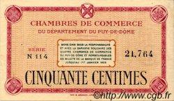 50 Centimes FRANCE régionalisme et divers PUY-DE-DÔME 1918 JP.103.18 TTB à SUP