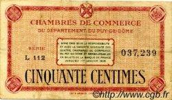 50 Centimes FRANCE régionalisme et divers PUY-DE-DÔME 1918 JP.103.22 TTB à SUP