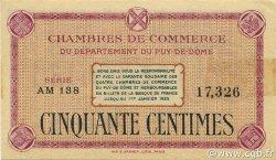 50 Centimes FRANCE régionalisme et divers PUY-DE-DÔME 1918 JP.103.23 TTB à SUP
