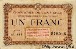 1 Franc FRANCE régionalisme et divers Puy-De-Dôme 1918 JP.103.25 TTB à SUP