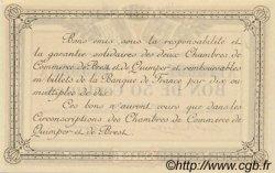 50 Centimes FRANCE régionalisme et divers QUIMPER ET BREST 1915 JP.104.01 SPL à NEUF