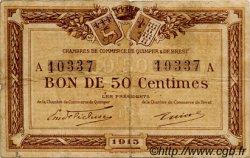 50 Centimes FRANCE régionalisme et divers Quimper et Brest 1915 JP.104.01 TB