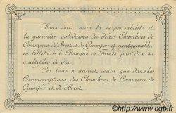 1 Franc FRANCE régionalisme et divers QUIMPER ET BREST 1915 JP.104.02 SPL à NEUF