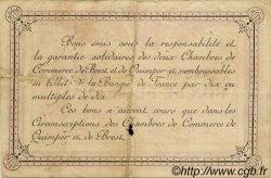 2 Francs FRANCE régionalisme et divers Quimper et Brest 1915 JP.104.03 TTB à SUP