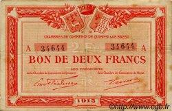 2 Francs FRANCE régionalisme et divers QUIMPER ET BREST 1915 JP.104.03 TB