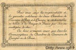 50 Centimes FRANCE régionalisme et divers QUIMPER ET BREST 1915 JP.104.04 TTB à SUP