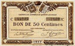 50 Centimes FRANCE régionalisme et divers QUIMPER ET BREST 1917 JP.104.07 SPL à NEUF