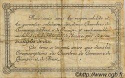 50 Centimes FRANCE régionalisme et divers Quimper et Brest 1917 JP.104.07 TTB à SUP