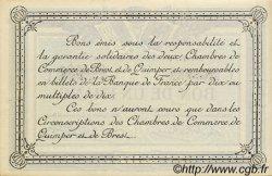 1 Franc FRANCE régionalisme et divers QUIMPER ET BREST 1917 JP.104.08 SPL à NEUF