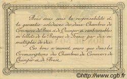 50 Centimes FRANCE régionalisme et divers QUIMPER ET BREST 1918 JP.104.10 TTB à SUP