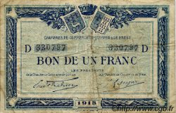 1 Franc FRANCE régionalisme et divers QUIMPER ET BREST 1918 JP.104.11 TB