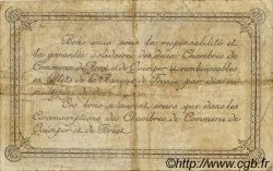 50 Centimes FRANCE régionalisme et divers Quimper et Brest 1920 JP.104.16 TB