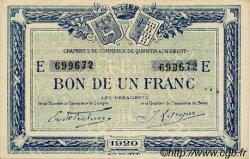 1 Franc FRANCE régionalisme et divers QUIMPER ET BREST 1920 JP.104.17 SPL à NEUF