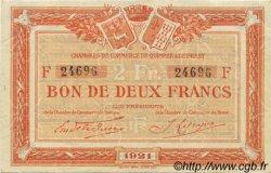 2 Francs FRANCE régionalisme et divers Quimper et Brest 1921 JP.104.21 SPL à NEUF