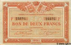 2 Francs FRANCE régionalisme et divers QUIMPER ET BREST 1921 JP.104.21 TTB à SUP