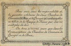 50 Centimes FRANCE régionalisme et divers QUIMPER ET BREST 1922 JP.104.22 TTB à SUP