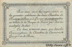 1 Franc FRANCE régionalisme et divers QUIMPER ET BREST 1922 JP.104.23 TTB à SUP