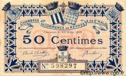 50 Centimes FRANCE régionalisme et divers Rennes et Saint-Malo 1915 JP.105.01 TTB à SUP