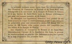 50 Centimes FRANCE régionalisme et divers RENNES ET SAINT-MALO 1915 JP.105.01 TB