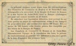 1 Franc FRANCE régionalisme et divers Rennes et Saint-Malo 1915 JP.105.03 SPL à NEUF