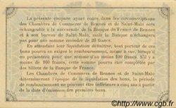 50 Centimes FRANCE régionalisme et divers RENNES ET SAINT-MALO 1915 JP.105.06 SPL à NEUF