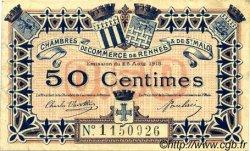 50 Centimes FRANCE régionalisme et divers RENNES ET SAINT-MALO 1915 JP.105.06 TTB à SUP