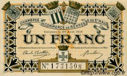 1 Franc FRANCE régionalisme et divers RENNES ET SAINT-MALO 1915 JP.105.07 SPL à NEUF