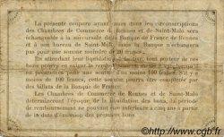 50 Centimes FRANCE régionalisme et divers Rennes et Saint-Malo 1915 JP.105.08 TB