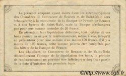 1 Franc FRANCE régionalisme et divers Rennes et Saint-Malo 1915 JP.105.11 TTB à SUP
