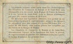 1 Franc FRANCE régionalisme et divers Rennes et Saint-Malo 1915 JP.105.15 TTB à SUP