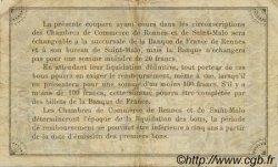 1 Franc FRANCE régionalisme et divers RENNES ET SAINT-MALO 1915 JP.105.15 TB