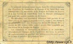 50 Centimes FRANCE régionalisme et divers RENNES ET SAINT-MALO 1915 JP.105.17 TTB à SUP