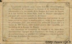 50 Centimes FRANCE régionalisme et divers RENNES ET SAINT-MALO 1915 JP.105.17 TB