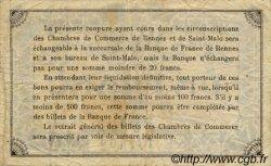 1 Franc FRANCE régionalisme et divers Rennes et Saint-Malo 1922 JP.105.22 TB