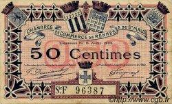 50 Centimes FRANCE régionalisme et divers RENNES ET SAINT-MALO 1922 JP.105.23 TB