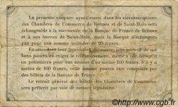 1 Franc FRANCE régionalisme et divers Rennes et Saint-Malo 1922 JP.105.24 TB