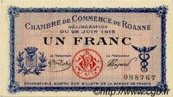 1 Franc FRANCE régionalisme et divers ROANNE 1915 JP.106.02 SPL à NEUF