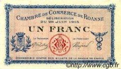 1 Franc FRANCE régionalisme et divers Roanne 1915 JP.106.04 SPL à NEUF