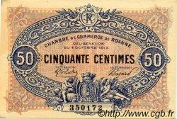 50 Centimes FRANCE régionalisme et divers Roanne 1915 JP.106.05 TTB à SUP