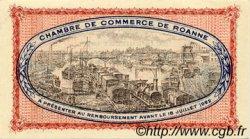 1 Franc FRANCE régionalisme et divers ROANNE 1917 JP.106.12 SPL à NEUF