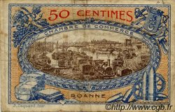 50 Centimes FRANCE régionalisme et divers Roanne 1917 JP.106.15 TB