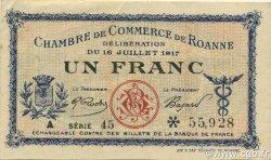 1 Franc FRANCE régionalisme et divers Roanne 1917 JP.106.17 TTB à SUP