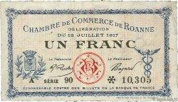 1 Franc FRANCE régionalisme et divers ROANNE 1917 JP.106.17 TB