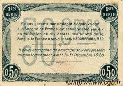 50 Centimes FRANCE régionalisme et divers ROCHEFORT-SUR-MER 1915 JP.107.01 TTB à SUP
